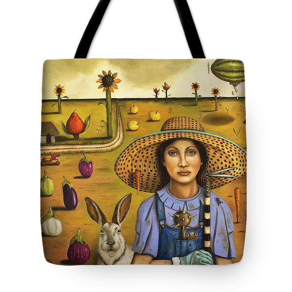 Harvey And The Eccentric Farmer Tote Bag by Leah Saulnier The Painting Maniac