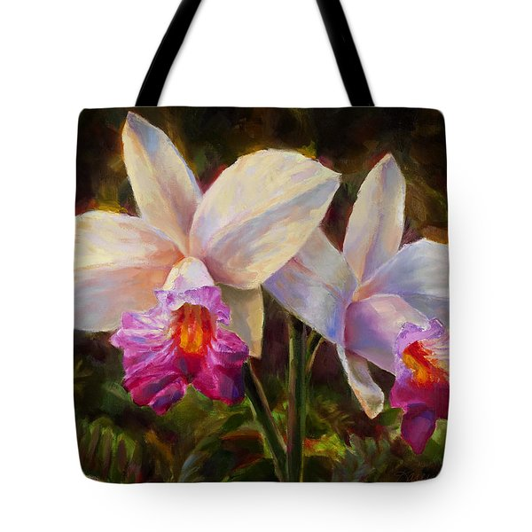 Hawaiian Bamboo Orchid Tote Bag by Karen Whitworth