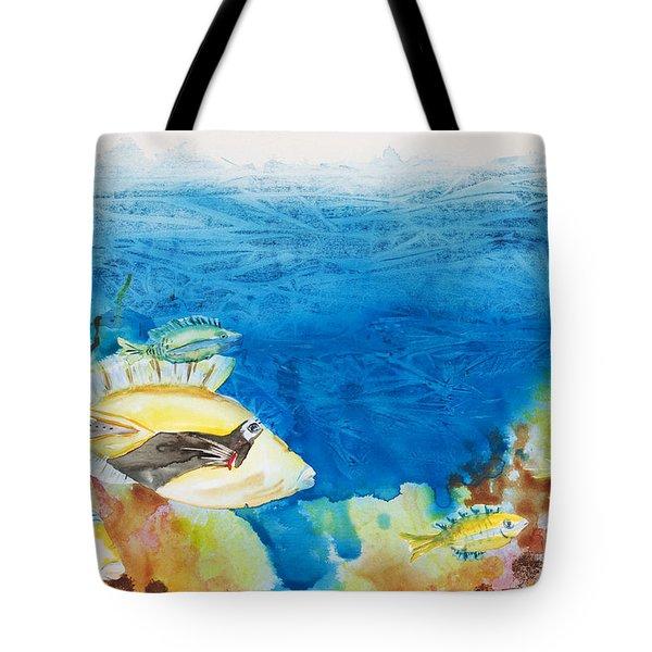 Hawaiian Triggerfish Tote Bag by Tanya L Haynes - Printscapes
