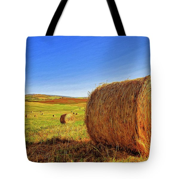Hay Bales Tote Bag by Dominic Piperata