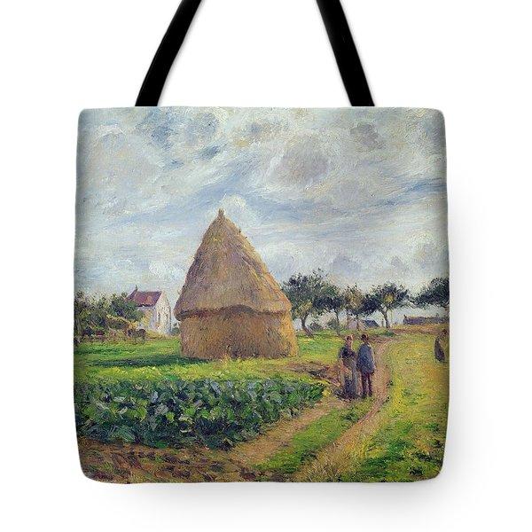 Haystacks Tote Bag by Camille Pissarro