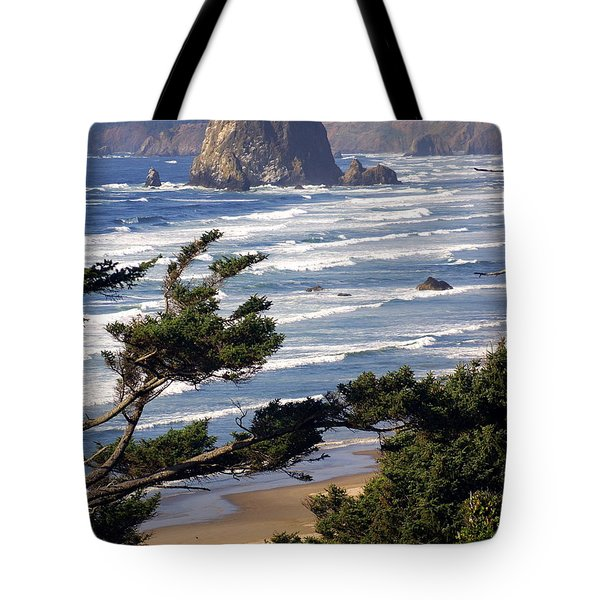 Haystak Rock Through The Trees Tote Bag by Marty Koch