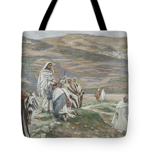 He Sent Them Out Two By Two Tote Bag by Tissot