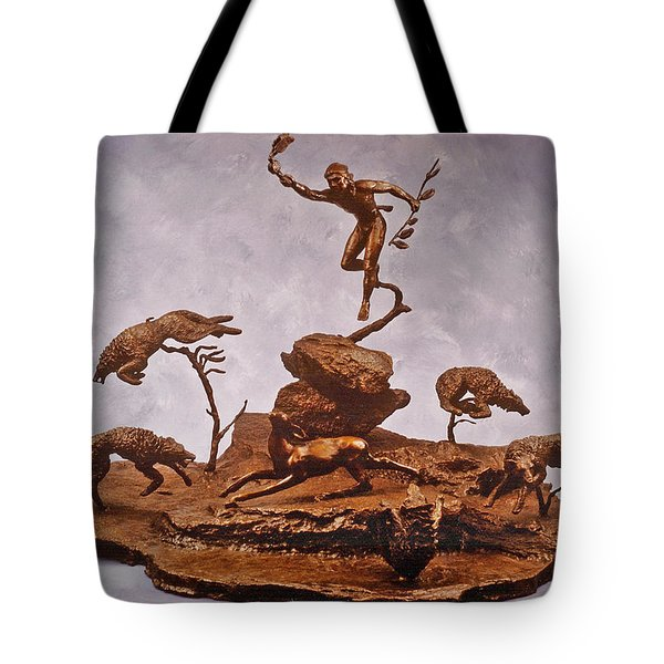 He Who Saved the Deer complete Tote Bag by Dawn Senior-Trask and Willoughby Senior