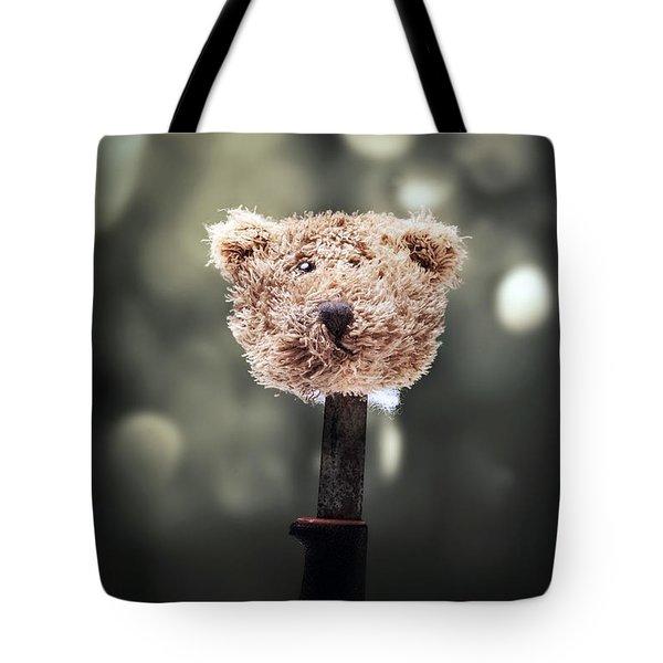 head of a teddy Tote Bag by Joana Kruse