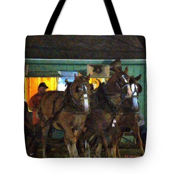Heading Into The Ring Tote Bag by RC DeWinter
