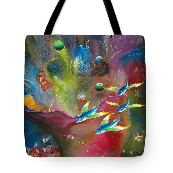 Heart Of The Reef Tote Bag by Lee Pantas