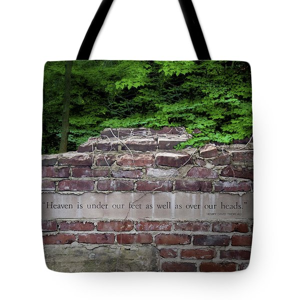 Heaven Under Our Feet Wall Tote Bag by Tom Mc Nemar