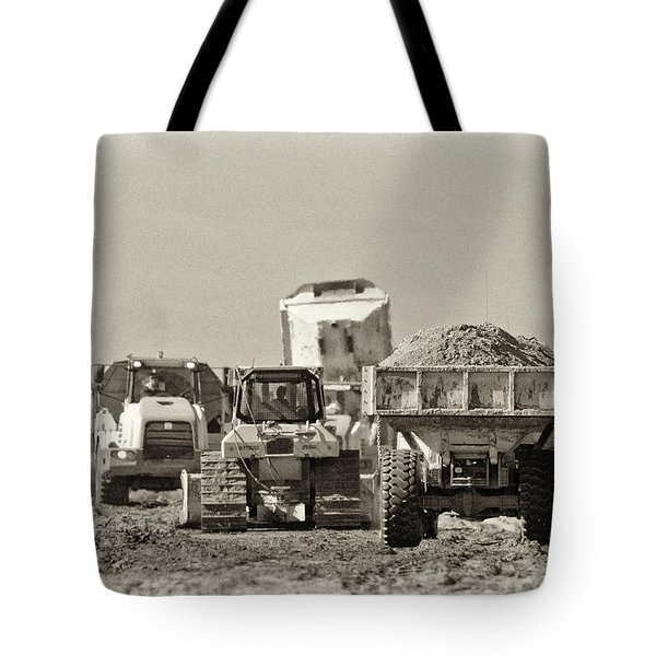 Heavy Equipment Meeting Tote Bag by Patrick M Lynch