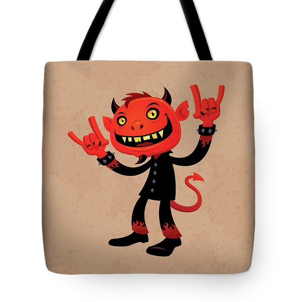 Heavy Metal Devil Tote Bag by John Schwegel
