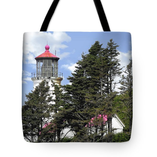 Heceta Head Lighthouse - Oregon's iconic Pacific Coast Light Tote Bag by Christine Till