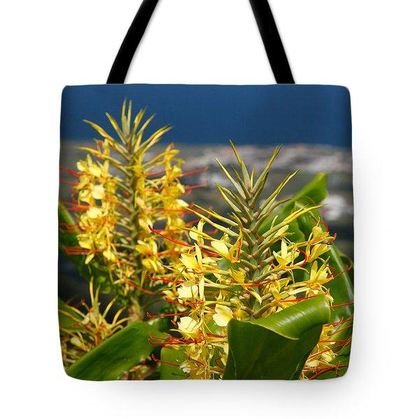 Hedychium Gardnerianum Tote Bag by Gaspar Avila
