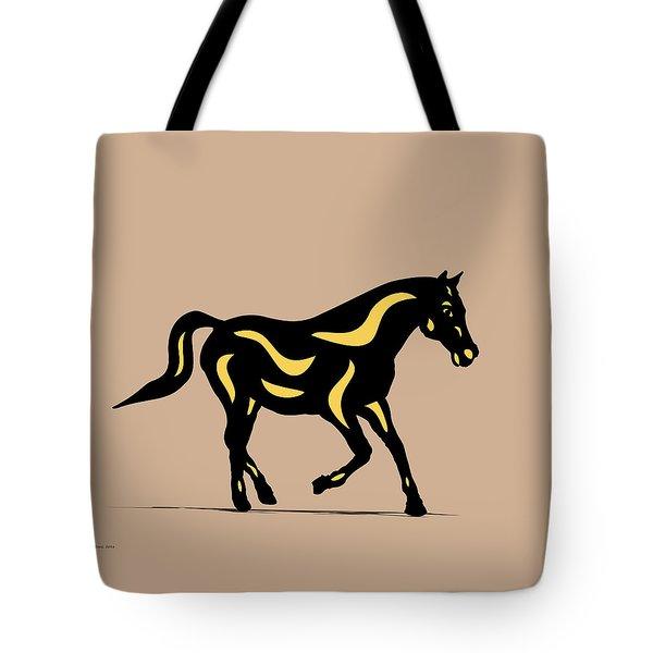 Heinrich - Pop Art Horse - Black, Primrose Yellow, Hazelnut Tote Bag by Manuel Sueess