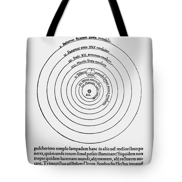 Heliocentric Universe, Copernicus, 1543 Tote Bag by Science Source