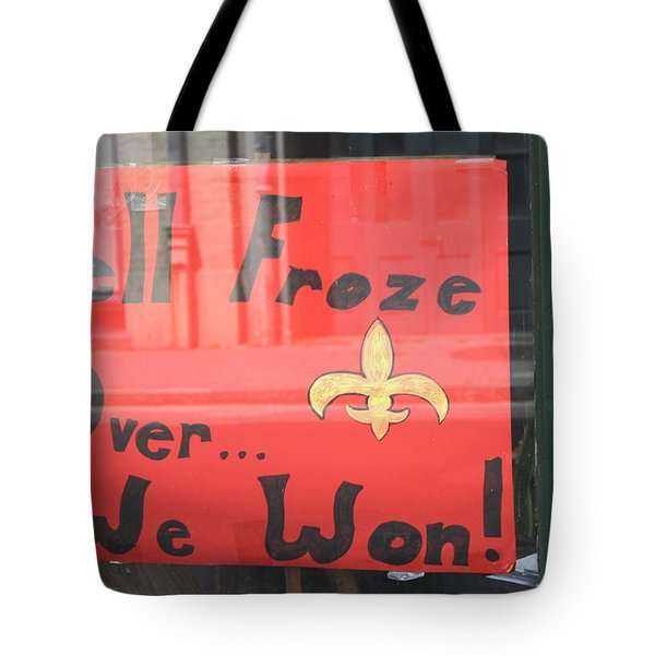 Hell Froze Tote Bag by Lauri Novak