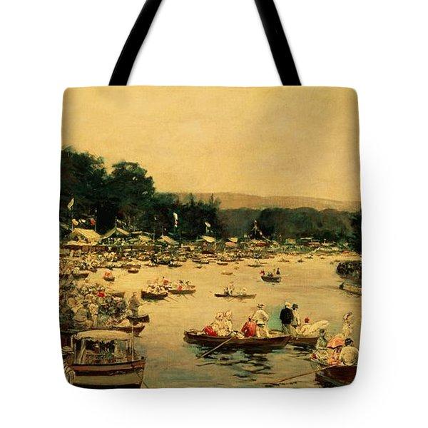 Henley Regatta Tote Bag by James Jacques Joseph Tissot