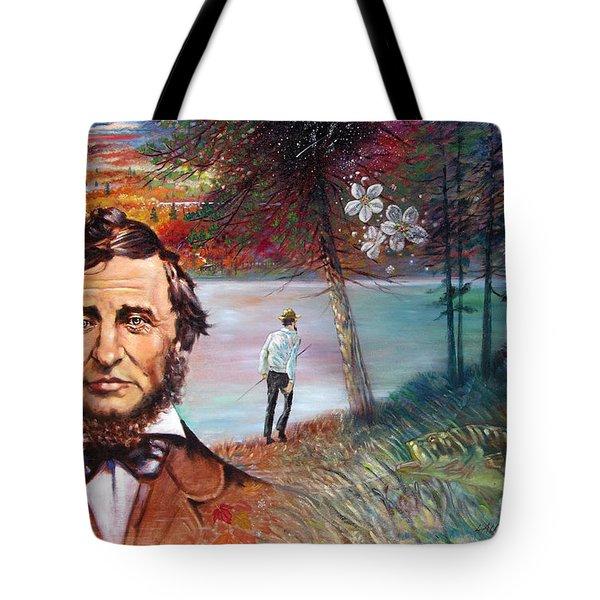 Henry David Thoreau Tote Bag by John Lautermilch