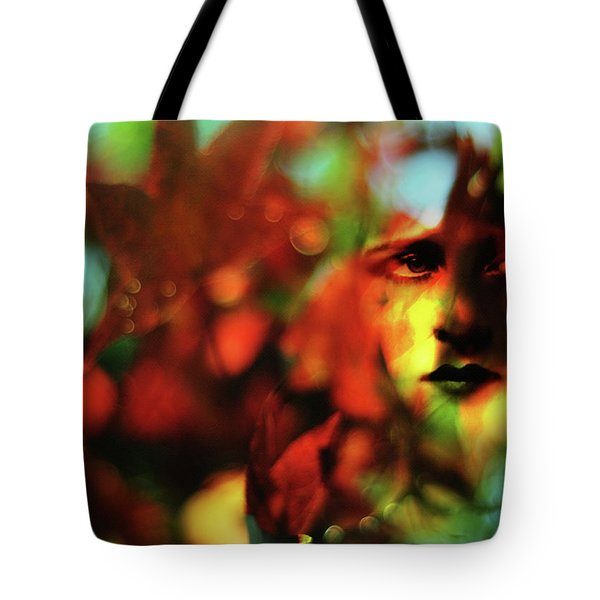 Her Autumn Eyes Tote Bag by Rebecca Sherman