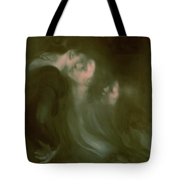 Her Mother's Kiss Tote Bag by Eugene Carriere