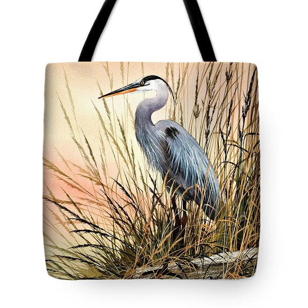 Heron Sunset Tote Bag by James Williamson