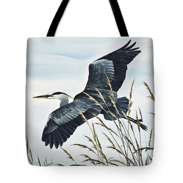 Herons Flight Tote Bag by James Williamson