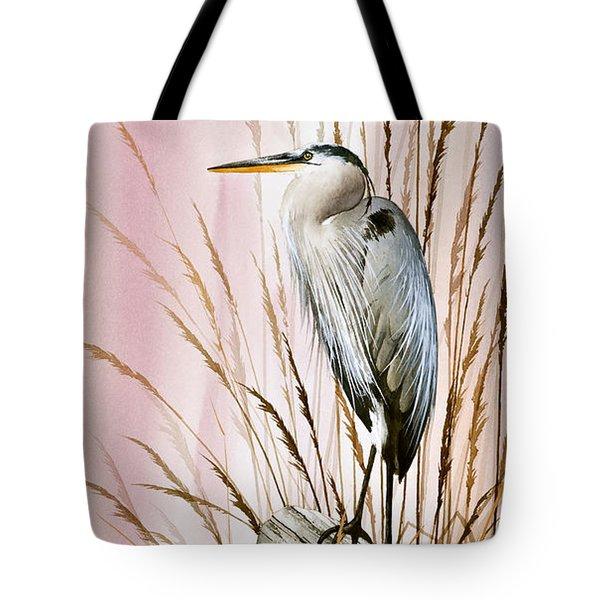 Herons Watch Tote Bag by James Williamson