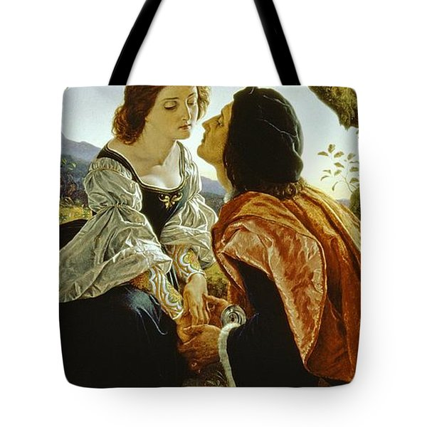 Hesperus The Evening Star Sacred To Lovers Tote Bag by Sir Joseph Noel Paton