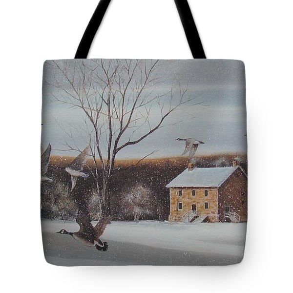 Hezakiah Alexander House Tote Bag by Charles Roy Smith