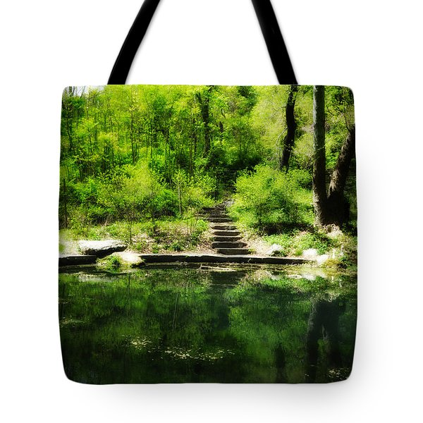 Hidden Pond At Schuylkill Valley Nature Center Tote Bag by Bill Cannon