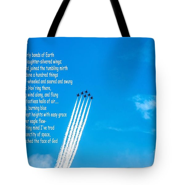 High Flight Tote Bag by Jon Burch Photography