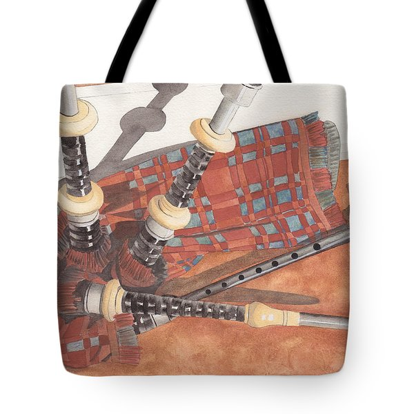Highland Pipes II Tote Bag by Ken Powers