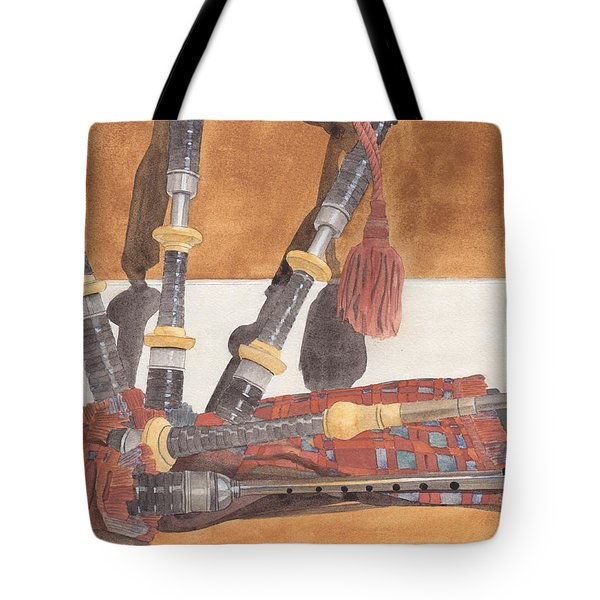 Highland Pipes Tote Bag by Ken Powers