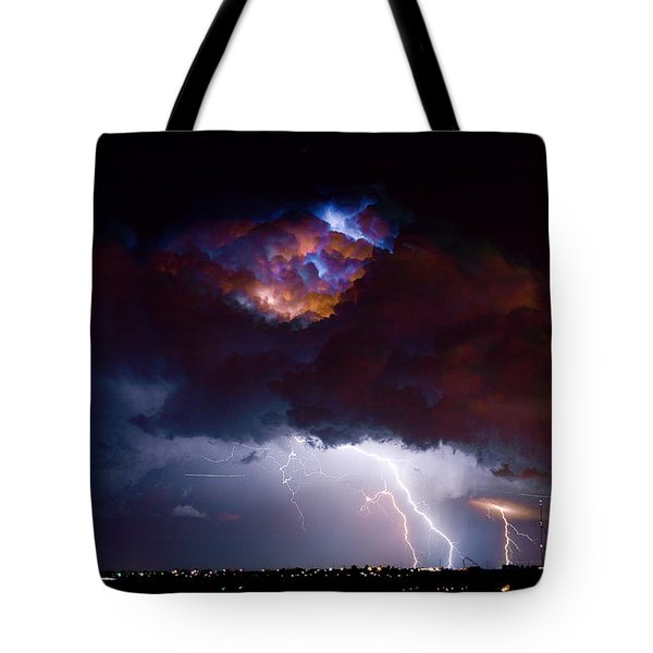 Highway 52 Thunderhead Lightning Cell Tote Bag by James BO  Insogna