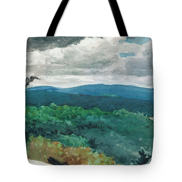 Hilly Landscape Tote Bag by Winslow Homer