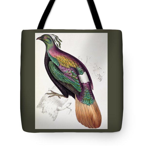Himalayan Monal Pheasant Tote Bag by John Gould