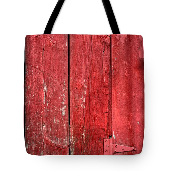 Hinge On A Red Barn Tote Bag by Steve Gadomski