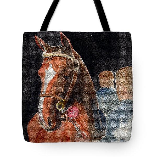 Hip No. 61 Chestnut Colt Tote Bag by Arline Wagner
