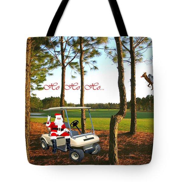 Ho Ho Ho Tote Bag by Adele Moscaritolo
