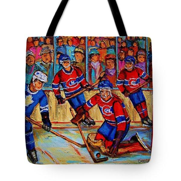 Hockey  Hero Tote Bag by Carole Spandau