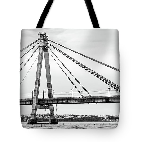 Hockey Under The Bridge Tote Bag by Ant Rozetsky