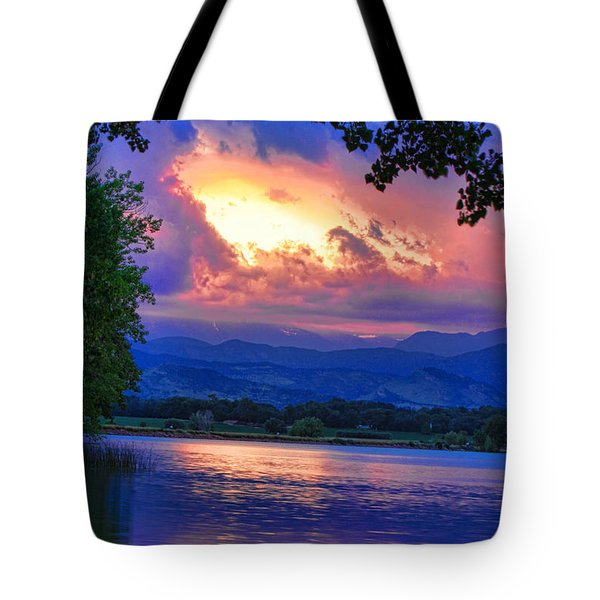 Hole In The Sky Sunset Tote Bag by James BO  Insogna