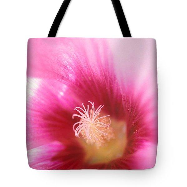 Hollyhock Closeup Tote Bag by Kathy Yates