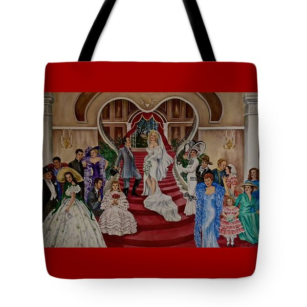 Hollywood Legends Tote Bag by Jan Law