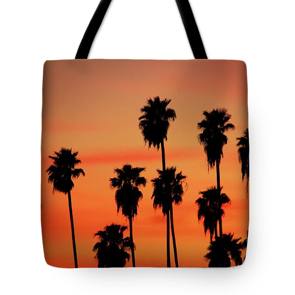 Hollywood Sunset Tote Bag by Mariola Bitner