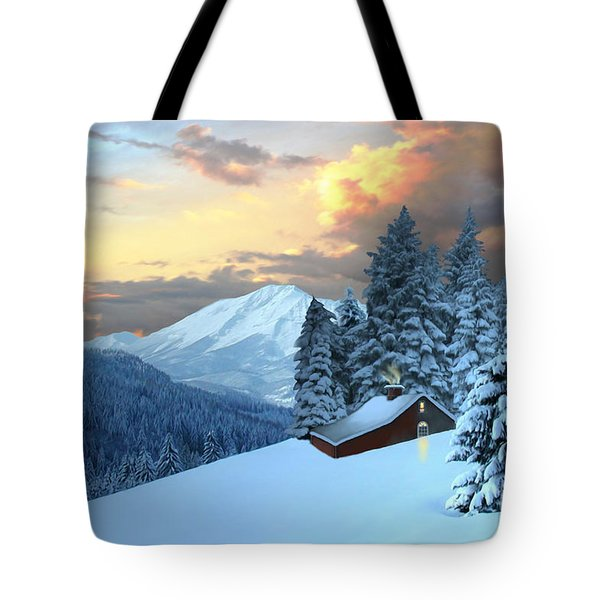 Home And Hearth Tote Bag by Corey Ford