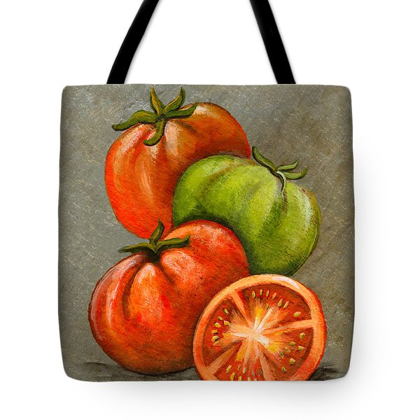 Home Grown Tomatoes Tote Bag by Elaine Hodges