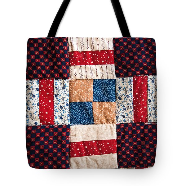 Homemade Quilt Tote Bag by Christopher Holmes