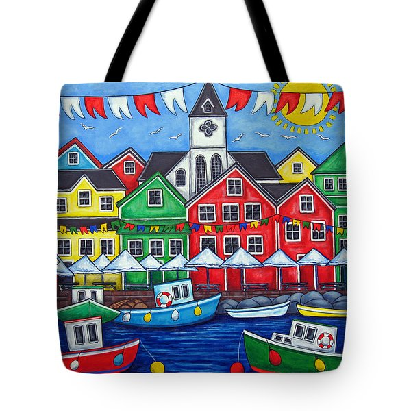 Hometown Festival Tote Bag by Lisa  Lorenz
