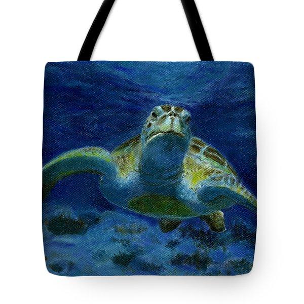 Honaunau Honu Tote Bag by Michele Ross