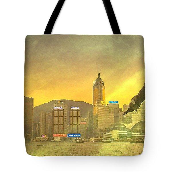 Hong Kong Lights Tote Bag by Loriental Photography